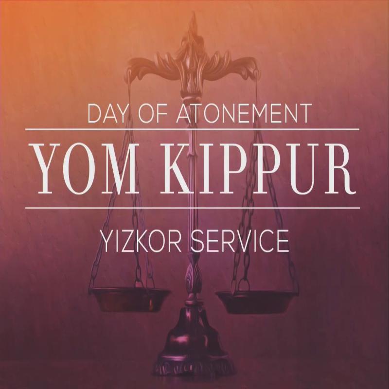 Yom Kippur & Yizkor (11:45 am) via Streaming
